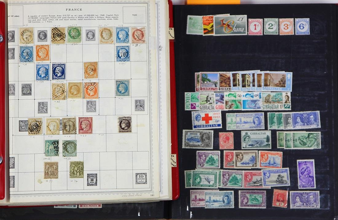 (lot of 100+) European stamp collection, 19th and 20th