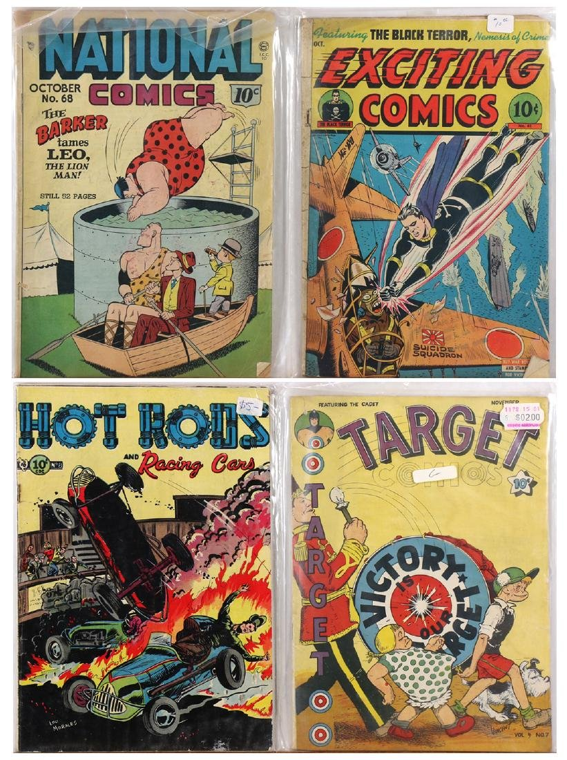 (lot of 4) Golden Age comic book group, consisting of