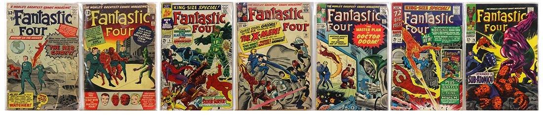 (lot of 7) Fantastic Four comic books, circa 1960's,