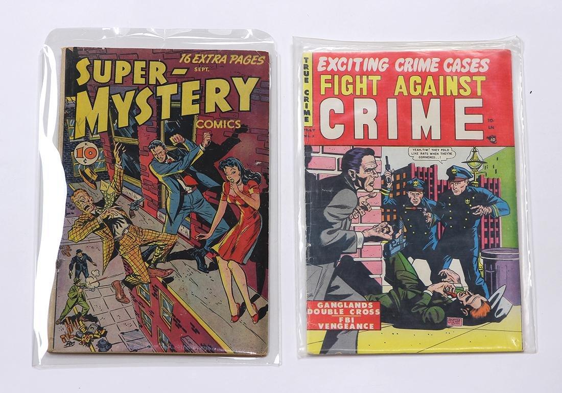 (lot of 2) Pre-Code Crime comic books, pre-1955: Fight