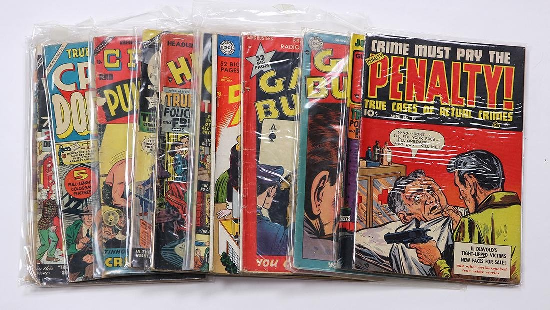 (lot of 12) Comic book group, pre-code crime, including