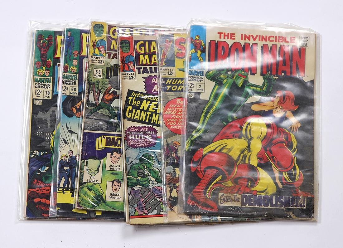 (lot of 7) Marvel comic books, silver age comics,