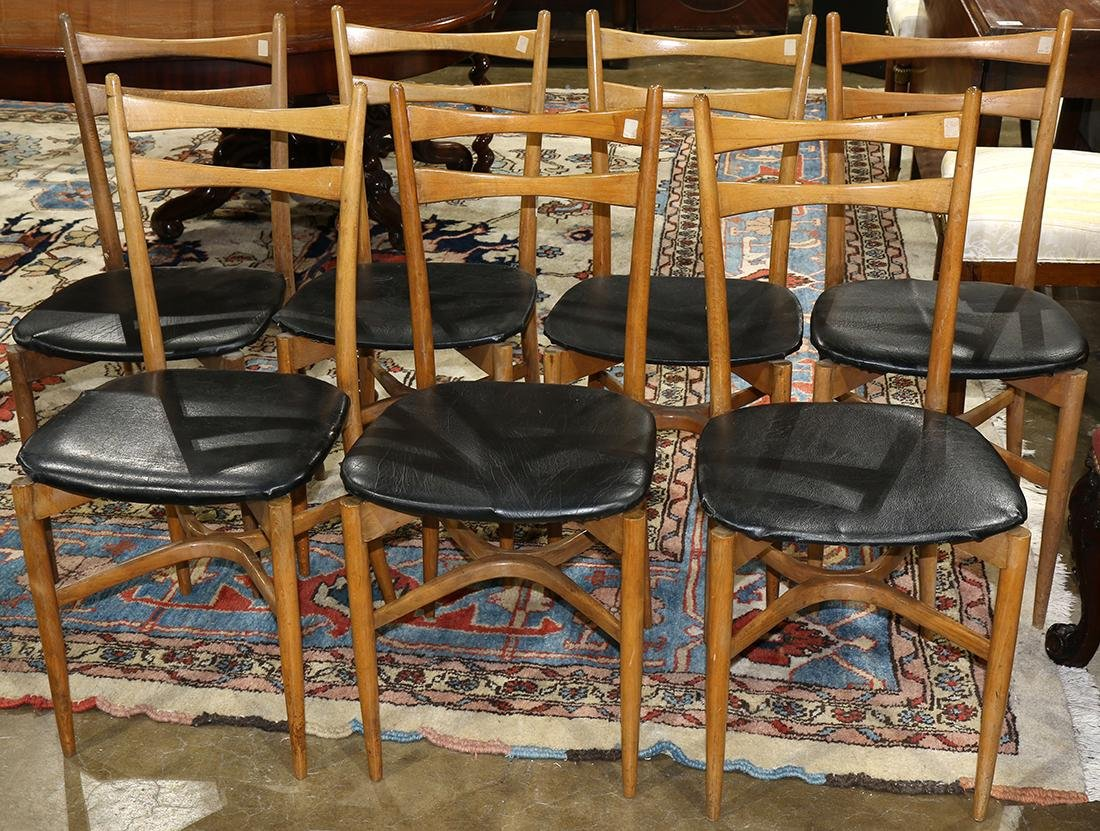 (lot of 7) Mid Century side chairs