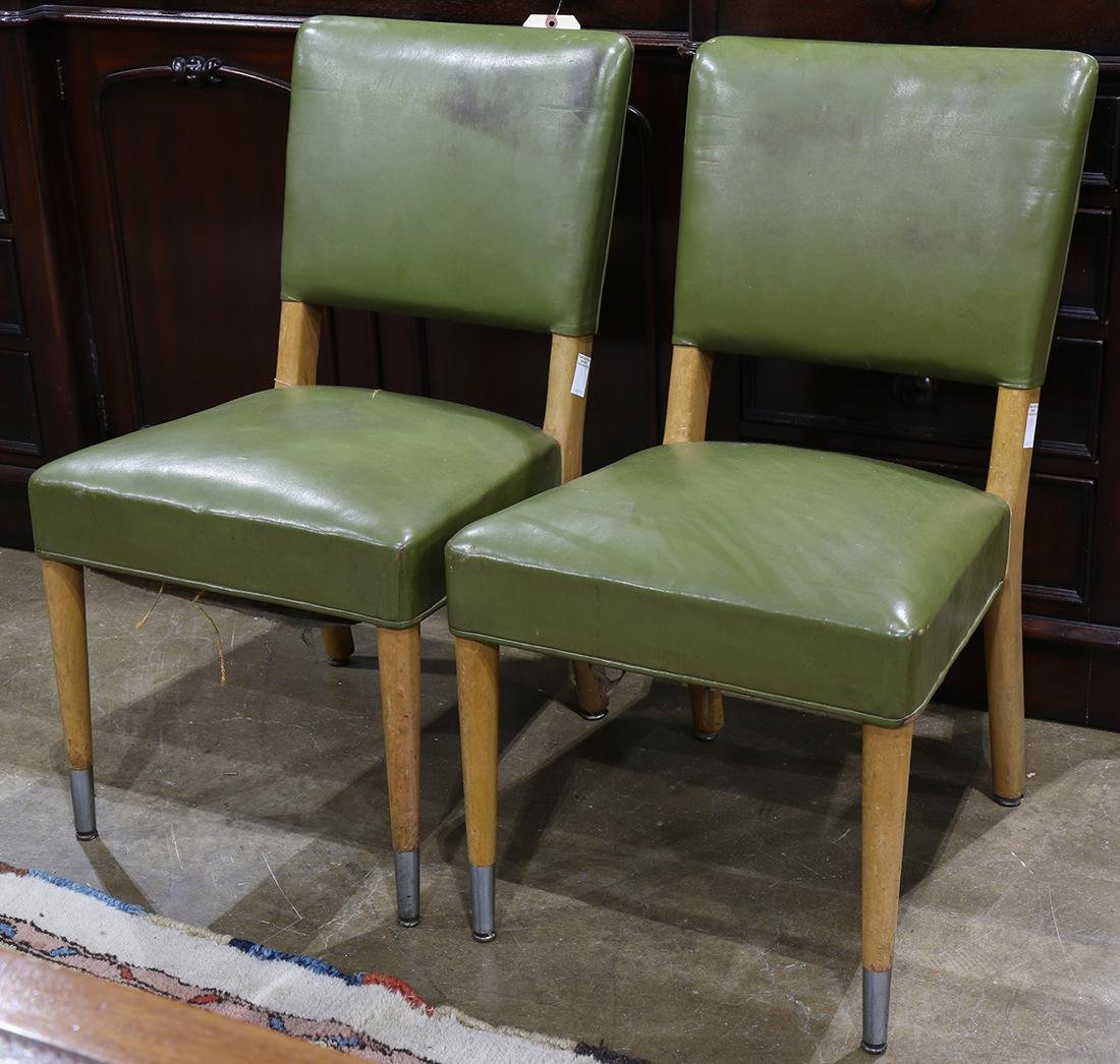 Pair of Stow & Davis teak Mid Century side chairs