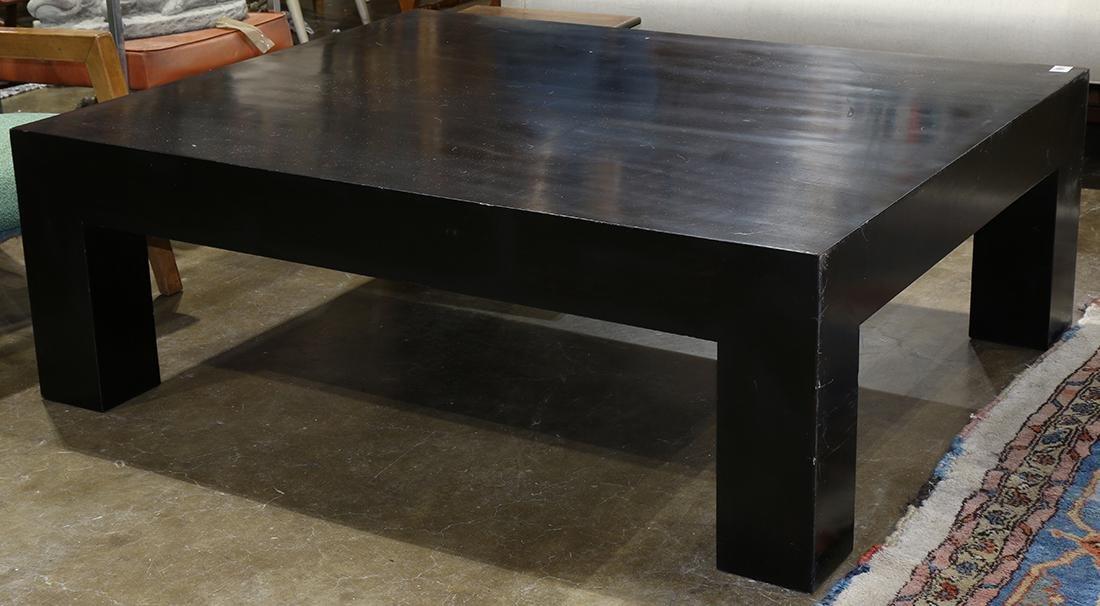 Moderne black low table