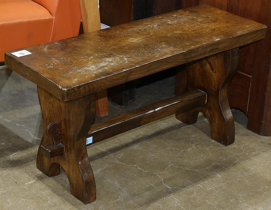 Spanish Revival low bench