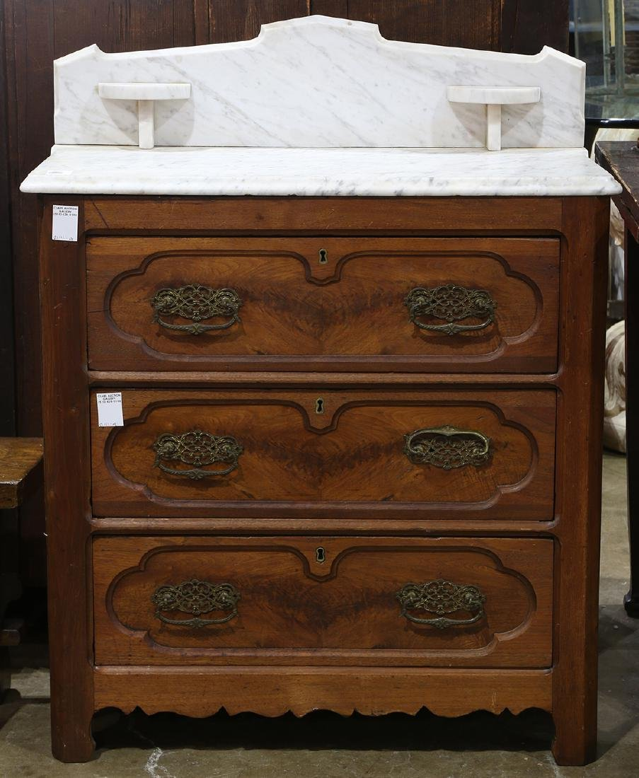 American Victorian marble top washstand