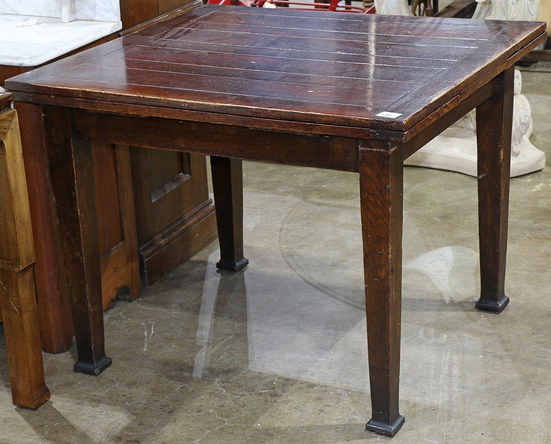 Arts and Crafts style draw leaf dining table