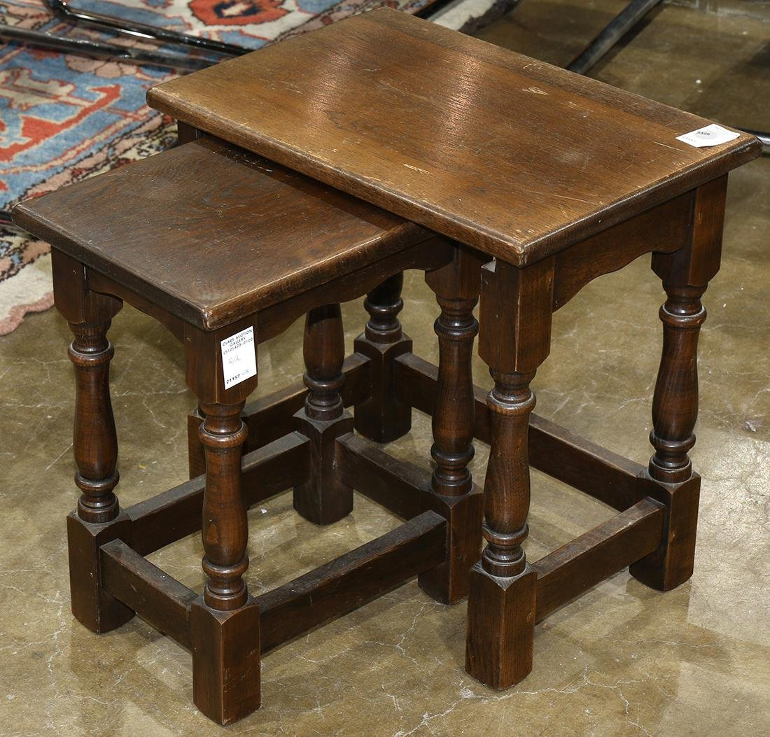 (lot of 2) William and Mary style nesting tables