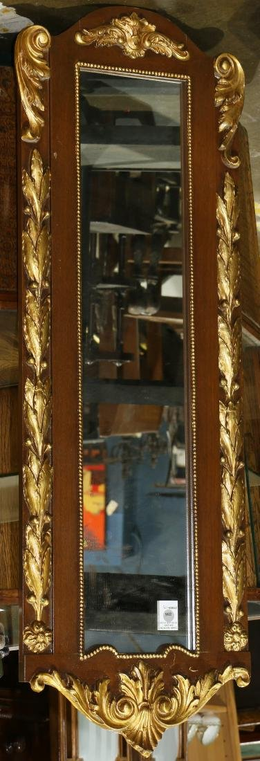 "Rococo Revival gilt wood pier mirror, 46""h x 15""w"