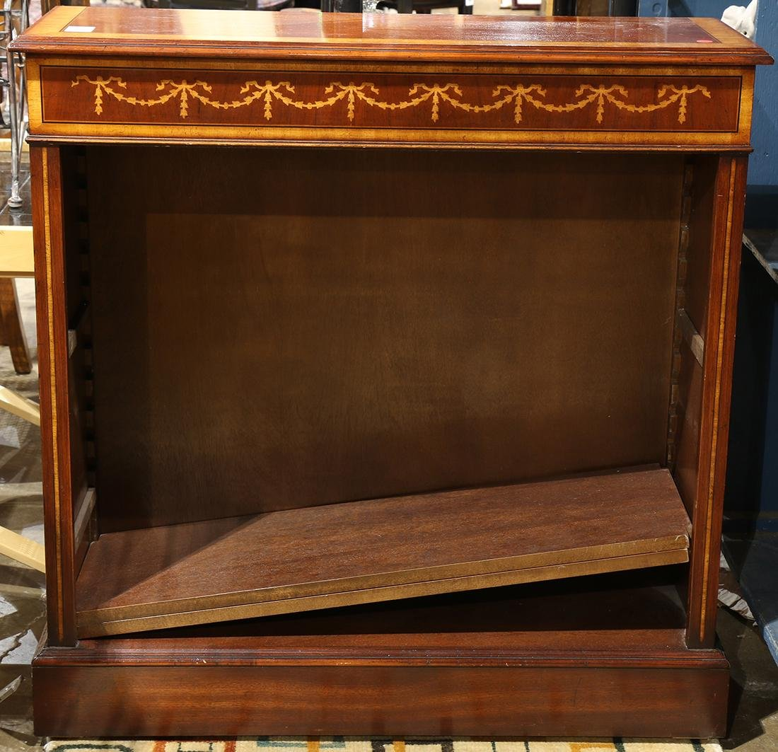Federal style inlaid mahogany bookcase