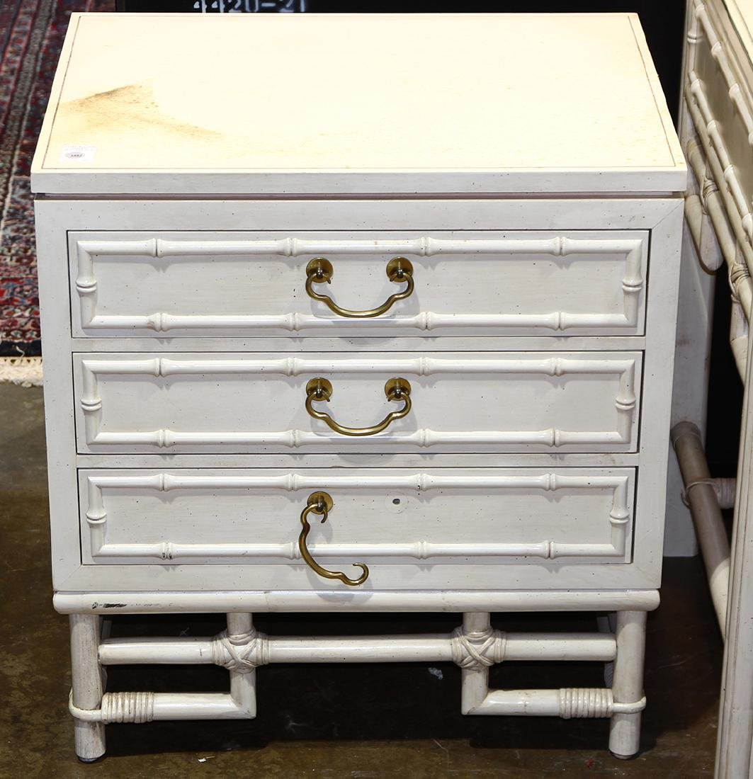 McGuire style chest, having rectangular top above a