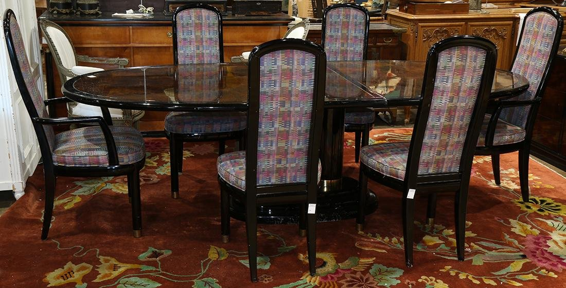 (lot of 8) Henredon dining suite from the 'Scene Three'