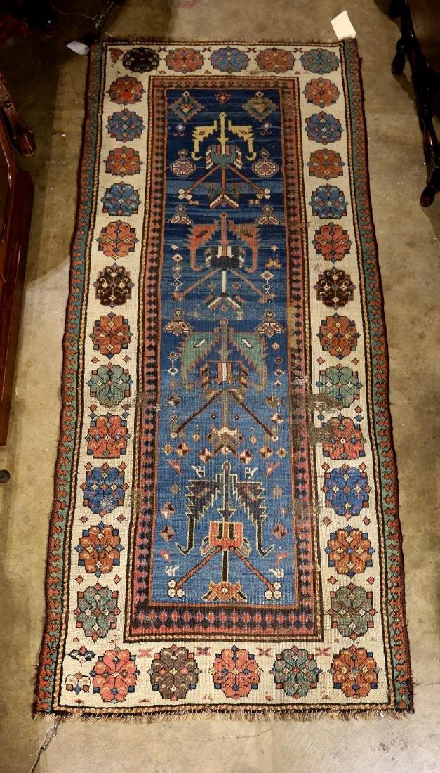 "Caucasian Kuba carpet 3' x 7'4"""