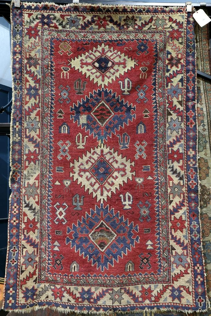 """Caucasian carpet, 5'11"""" x 3'8"""""""
