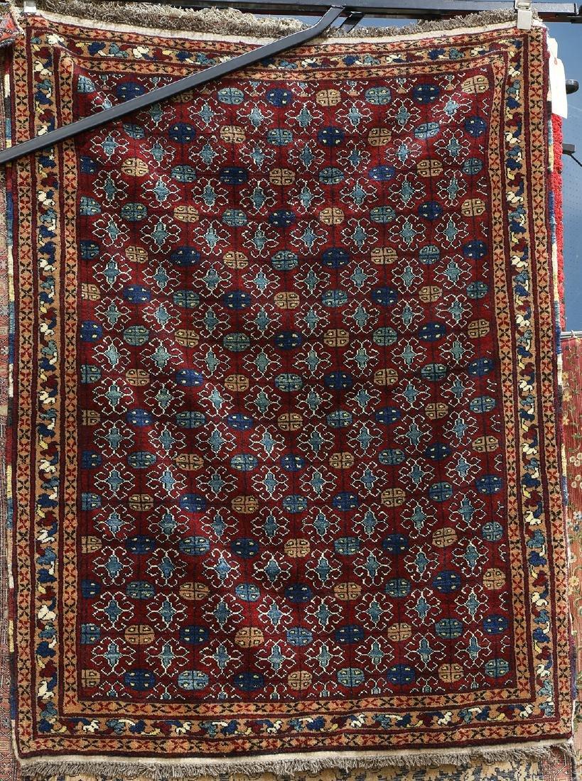 """Afghan Belouch carpet, 5'2"""" x 4'"""