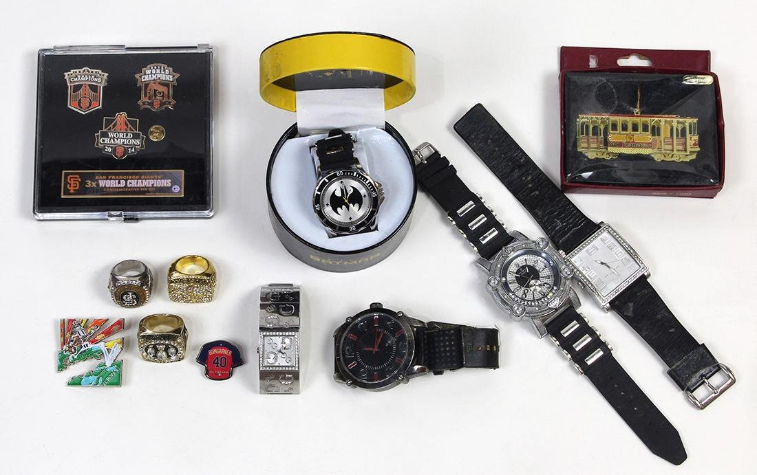 (Lot of 13) Collection of metal wristwatches and San