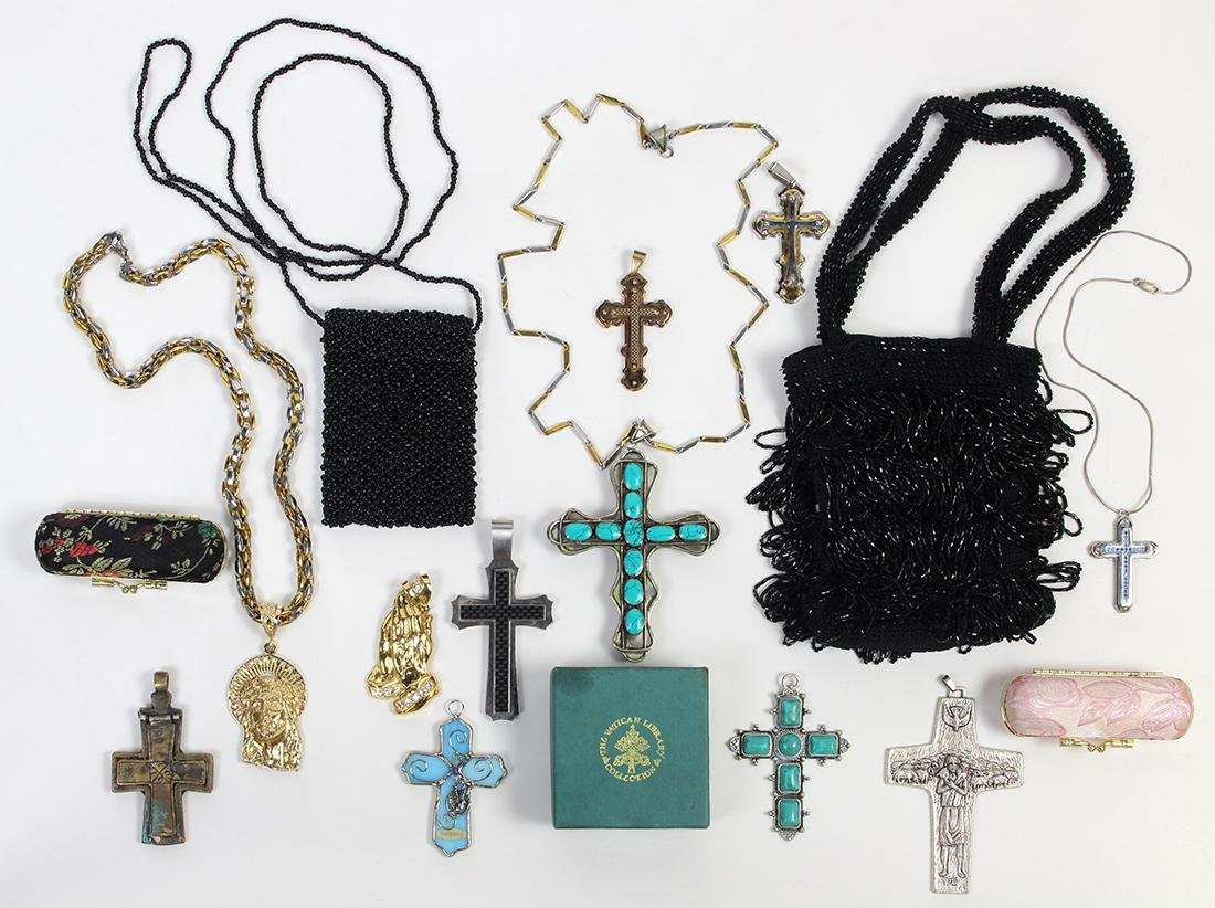 Collection of multi-stone, glass and metal jewelry