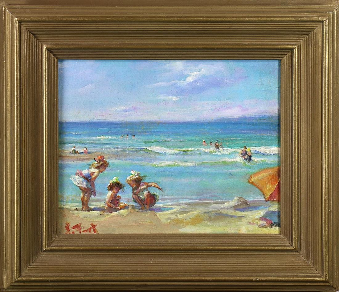 Painting, Children on the Beach