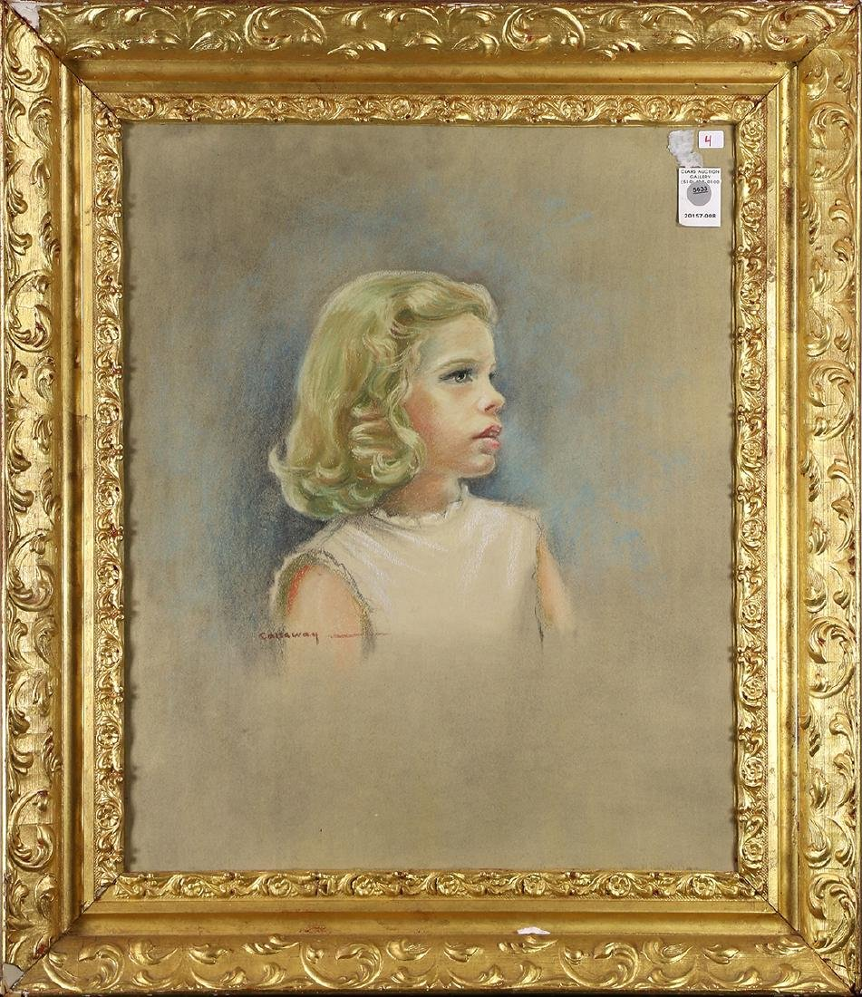 Pastel, Portrait of a Young Girl