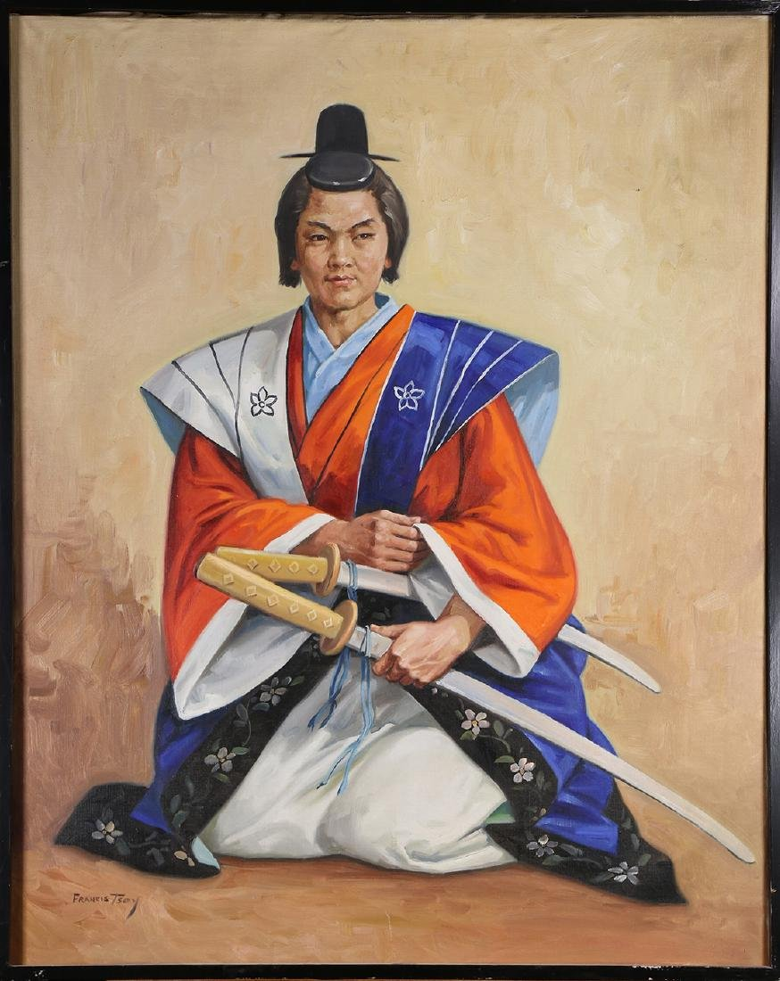 Painting, Japanese Warrior Portrait