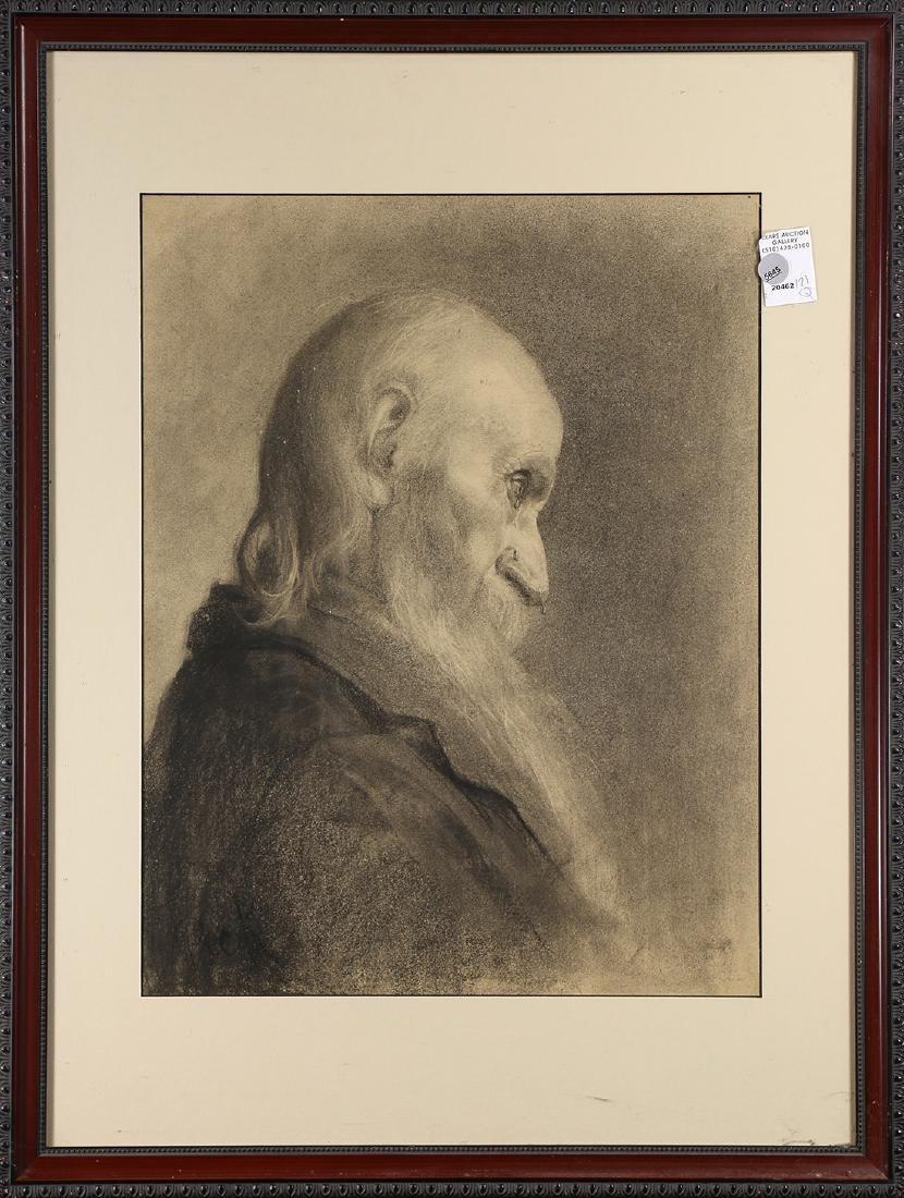 Work on paper, Bearded Man Shedding a Tear