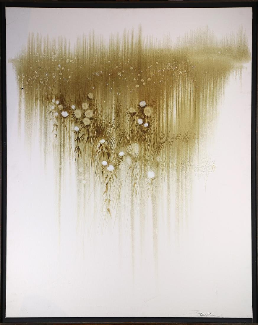 Painting, Untitled (White and Brown Flowers)