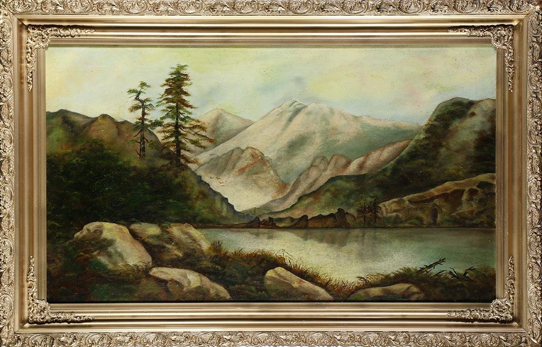 Painting, Mountain Lake