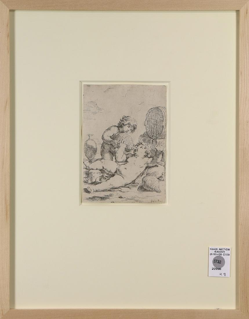 Print, Guido Reni, Putti con Vino