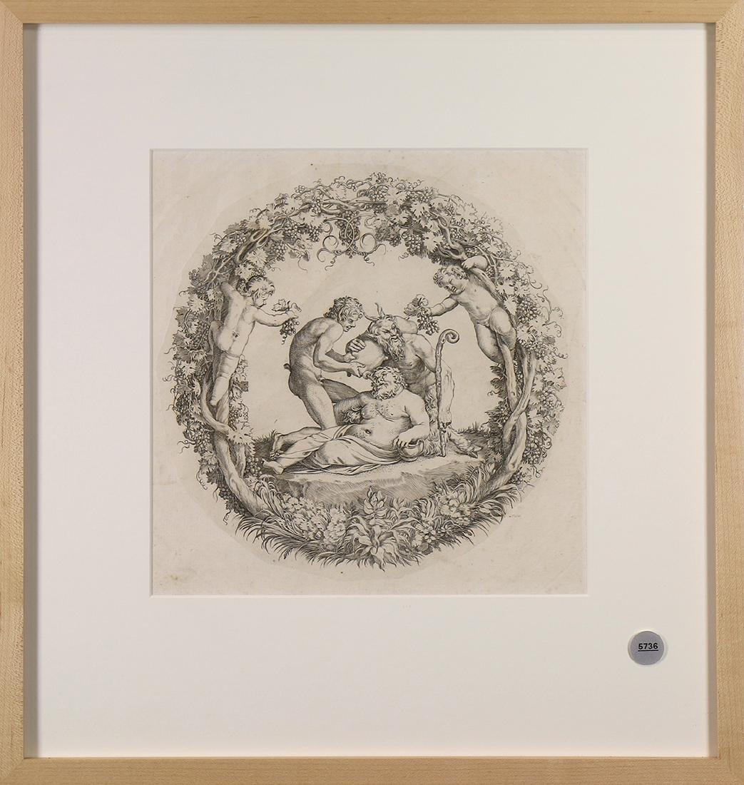 Print, The Drunken Silenus with Attendants