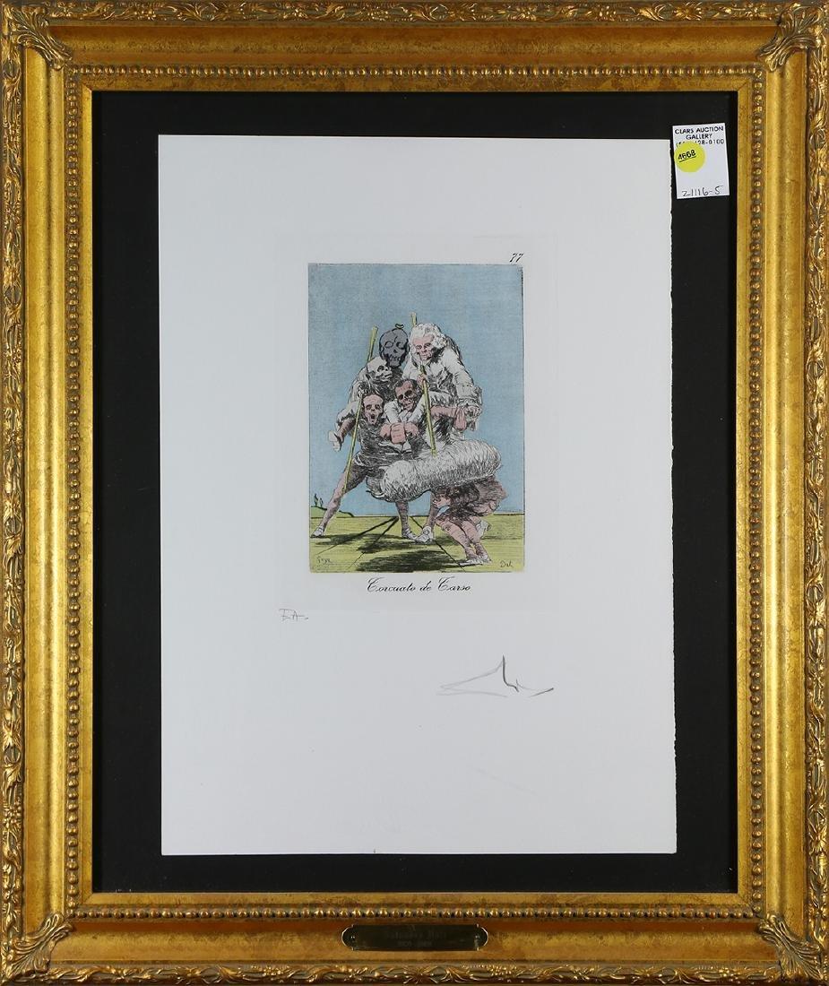 Print, Salvador Dali, Les Caprices de Goya