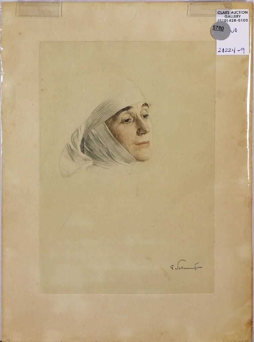 Print, Portrait of a woman