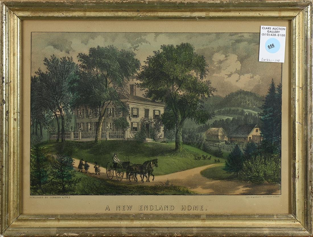 Currier & Ives, A New England Home