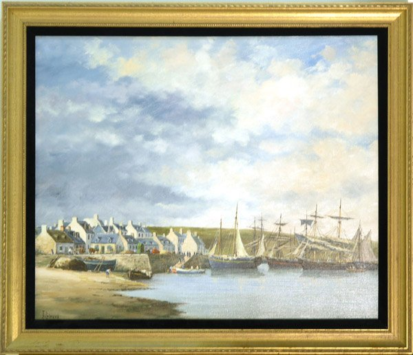 4000: painting A. Girard European seascape