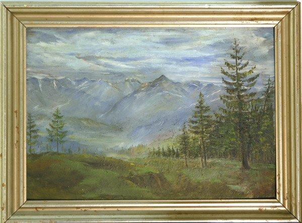 4003: painting European landscape