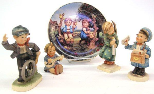 4015: Hummel figure plate Postman Joyful