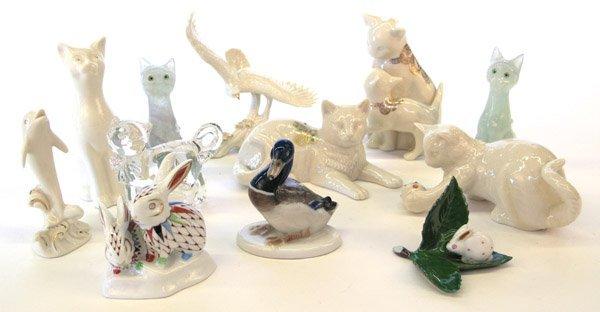 4017: Porcelain glass animal figures Lenos