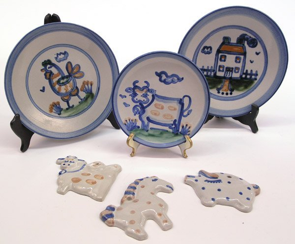 4022: MR Hadley hand painted pottery