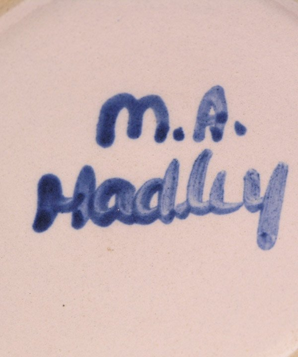 4022: MR Hadley hand painted pottery - 2