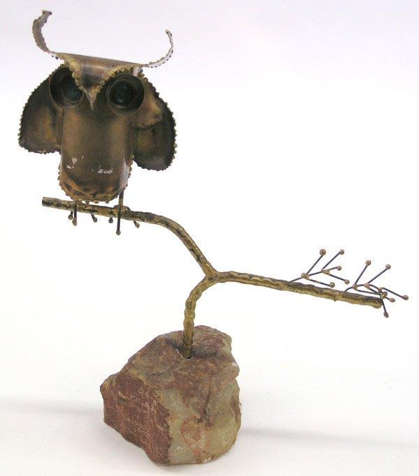 4023: Curtis Jere copper sculpture Owl