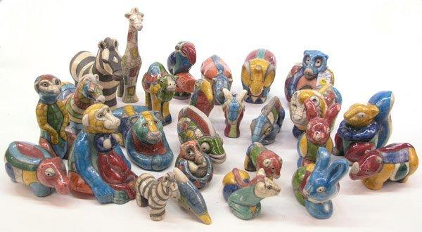 4024: South American stoneware animals