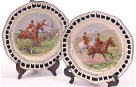 4037: Bavarian porcelain cabinet plates