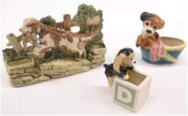 4147 ceramic dog planters Riddell McCoy