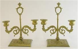 4188 Cast brass chamber candelabra