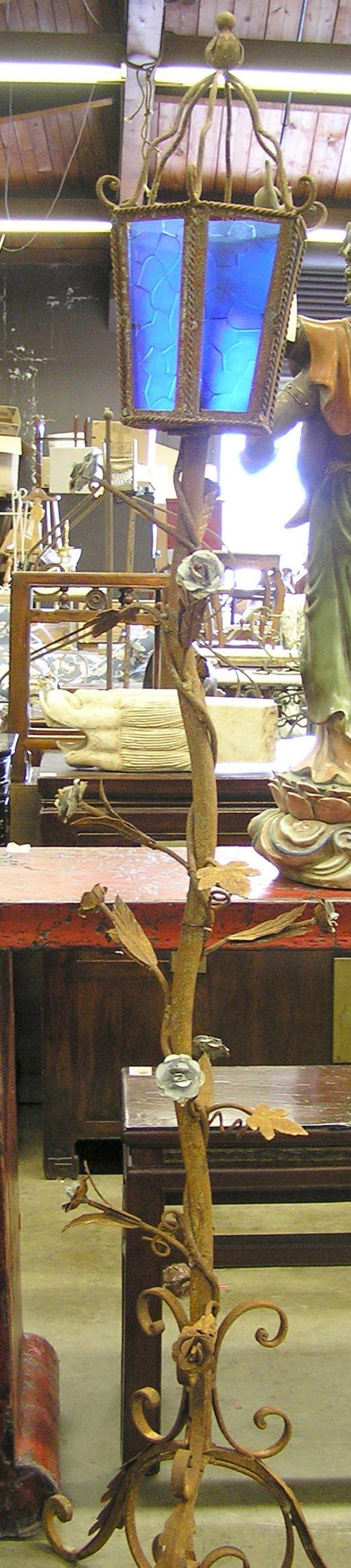 4244: Italian style wrought iron lanterns