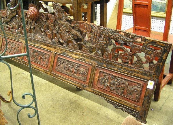 4271: Chinese carved wood lintel