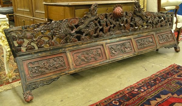 4271: Chinese carved wood lintel - 2