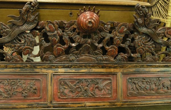 4271: Chinese carved wood lintel - 3