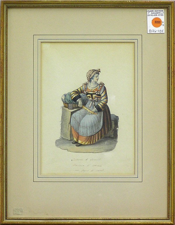 6000: Watercolor Italian Costume