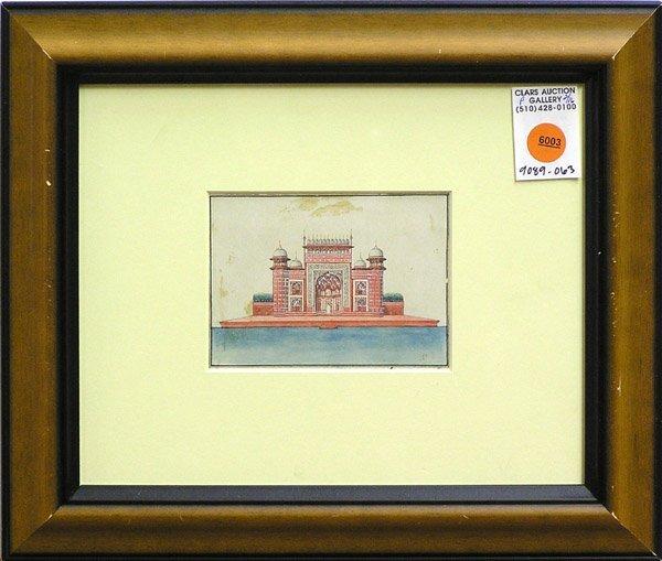6003: Watercolor Taj Mahal Indian